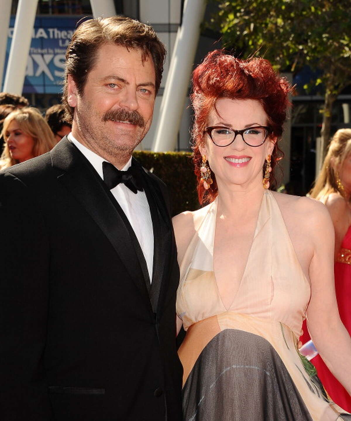 Funny couple Nick Offerman and Megan Mullally married in 2003. Source: hollywoodgossip.com