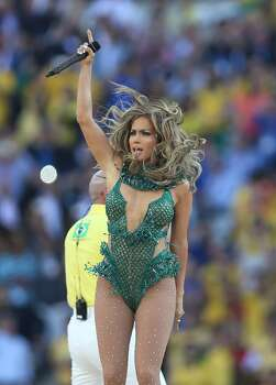 SAO PAULO, BRAZIL - JUNE 12:  Jennifer Lopez preforms during the opening ceremony during the opening match of the 2014 World Cup between Brazil and Croatia at Arena de Sao Paulo on June 12, 2014 in Sao Paulo, Brazil. (Photo by Ian MacNicol/Getty Images) Photo: Getty Images