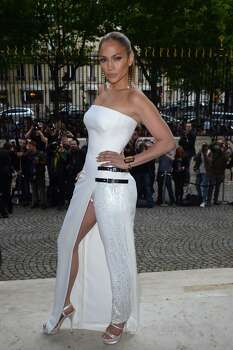PARIS, FRANCE - JULY 06:  Jennifer Lopez attends at the Versace show as part of Paris Fashion Week - Haute Couture Fall/Winter 2014-2015 at La Cour du Marais on July 6, 2014 in Paris, France.  (Photo by Dominique Charriau/WireImage) Photo: Dominique Charriau, WireImage