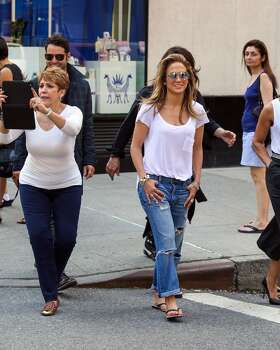 NEW YORK, NY - MAY 12:  Jennifer Lopez is seen taking a stroll on Madison Avenue with her mom Guadalupe Rodriguez on May 12, 2014 in New York City.  (Photo by Alessio Botticelli/GC Images) Photo: Alessio Botticelli, GC Images