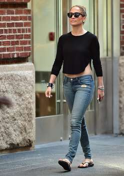 NEW YORK, NY - JUNE 30:  Jennifer Lopez is seen in Soho  on June 30, 2014 in New York City.  (Photo by Alo Ceballos/GC Images) Photo: GC Images