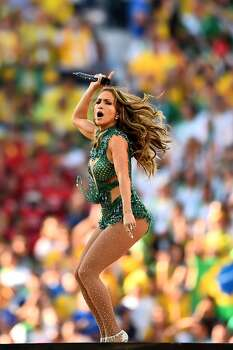 SAO PAULO, BRAZIL - JUNE 12:  Singer Jennifer Lopez performs during the Opening Ceremony of the 2014 FIFA World Cup Brazil prior to the Group A match between Brazil and Croatia at Arena de Sao Paulo on June 12, 2014 in Sao Paulo, Brazil.  (Photo by Christopher Lee/Getty Images) Photo: Getty Images