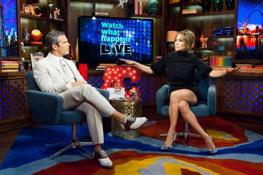 WATCH WHAT HAPPENS LIVE -- Pictured (l-r): Andy Cohen and Jennifer Lopez -- (Photo by: Charles Sykes/Bravo/NBCU Photo Bank via Getty Images) Photo: NBCU Photo Bank Via Getty Images
