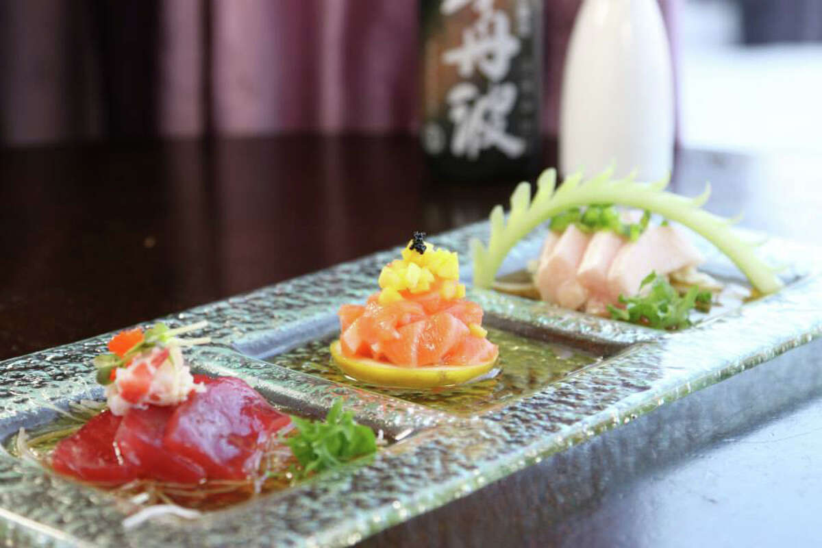 New Style Sashimi at Asian Bistro in Stamford.