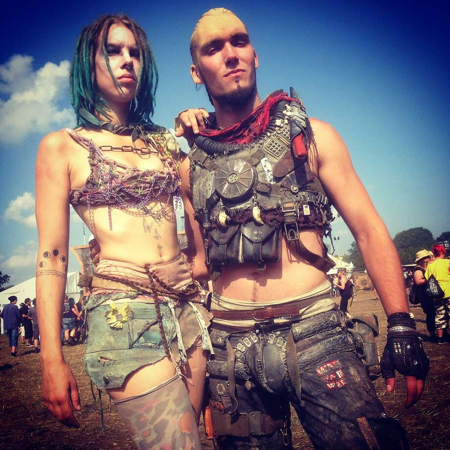 "Wacks figures:Wacken concert-goers inspired by the ""Mad Max"" movies show off their post-apocalyptic styles at the heavy metal music festival in Wacken, Germany. Photo: Sean Gallup, Getty Images"