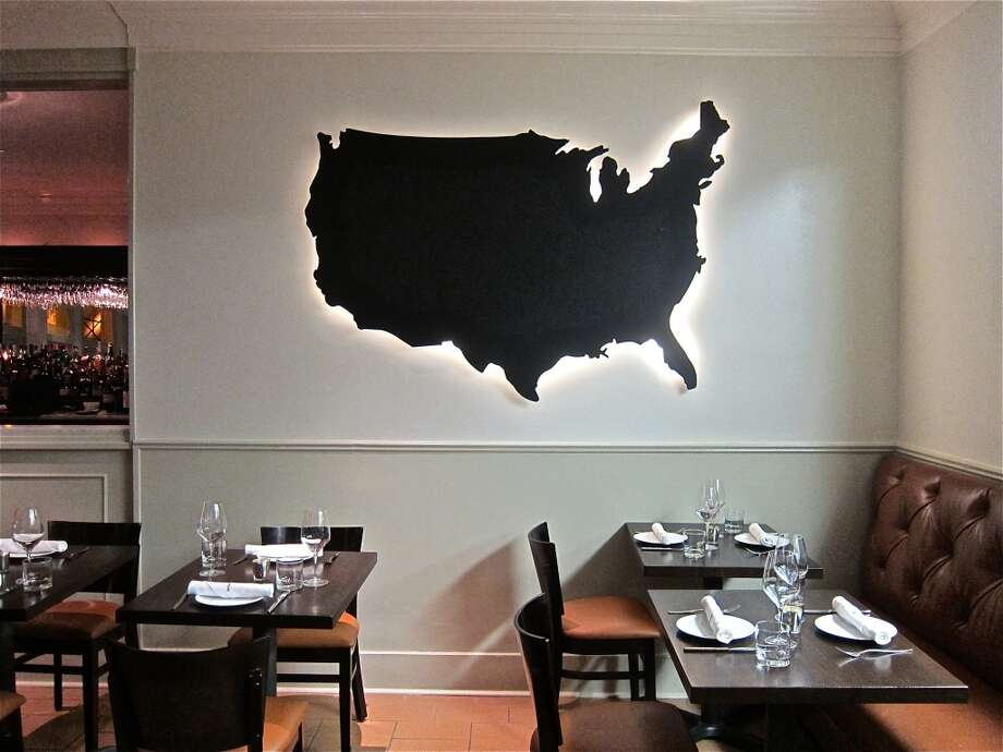 The dining room at Pax Americana on Montrose Blvd. Photo: Alison Cook