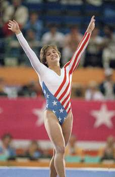 "Mary Lou Retton: The five-time Olympic medalist was the first female gymnast outside Eastern Europe to win the Olympic All-Around title. She was also the 1984 ""Sports Illustrated"" Sportswoman of the Year. Photo: Lionel Cirroneau, Associated Press / AP2009"