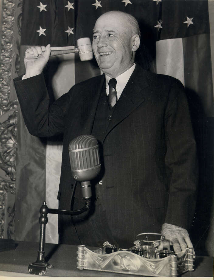 Sam Rayburn was the longest-serving Speaker of the U.S. House at 17 years. At the time of his death in 1961, he was the longest-serving congressman ever at 48 years. Photo: Associated Press