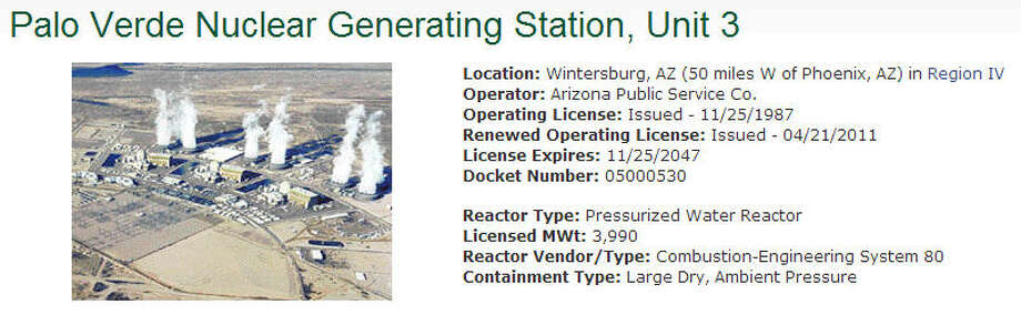 The above nuclear reactor is listed as operational by the United States Nuclear Regulatory Commission. Photo: United States Nuclear Regulatory Commission