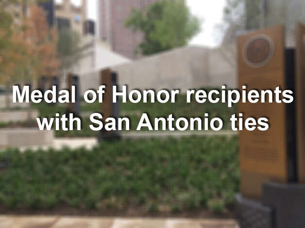 A monument honoring 32 recipients who were born, raised, enlisted or retired in San Antonio, opened at the River Walk near the Tobin Center for the Performing Arts in July 2014. The portal is a series of seven bronze plaques mounted on steps leading from the River Walk to the entrance of the Tobin Center. Photo: Merrisa Brown/mySanAntonio.com