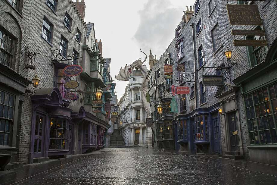 Universal Orlando introduced a free wireless network before opening its Wizarding World of Harry Potter - Diagon Alley at Universal Studios park. Photo: Handout, Getty Images