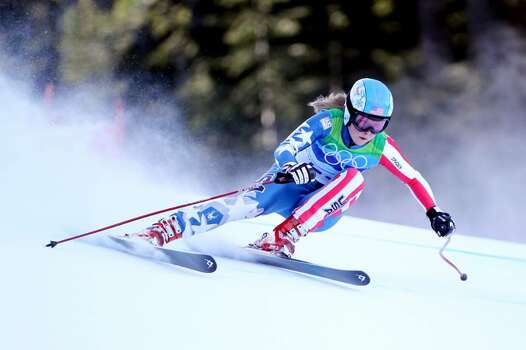 WHISTLER, BC - FEBRUARY 18:  Kaylin Richardson of The United States competes during the Alpine Skiing Ladies Super Combined Downhill on day 7 of the Vancouver 2010 Winter Olympics at Whistler Creekside on February 18, 2010 in Whistler, Canada.  (Photo by Doug Pensinger/Getty Images) *** Local Caption *** Kaylin Richardson Photo: Doug Pensinger, Getty Images / 2010 Getty Images