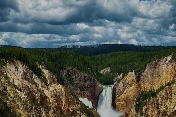 Yellowstone River flowing through Yellowstone Canyon in Yellowstone National Park. (Photo by Mark Burns)