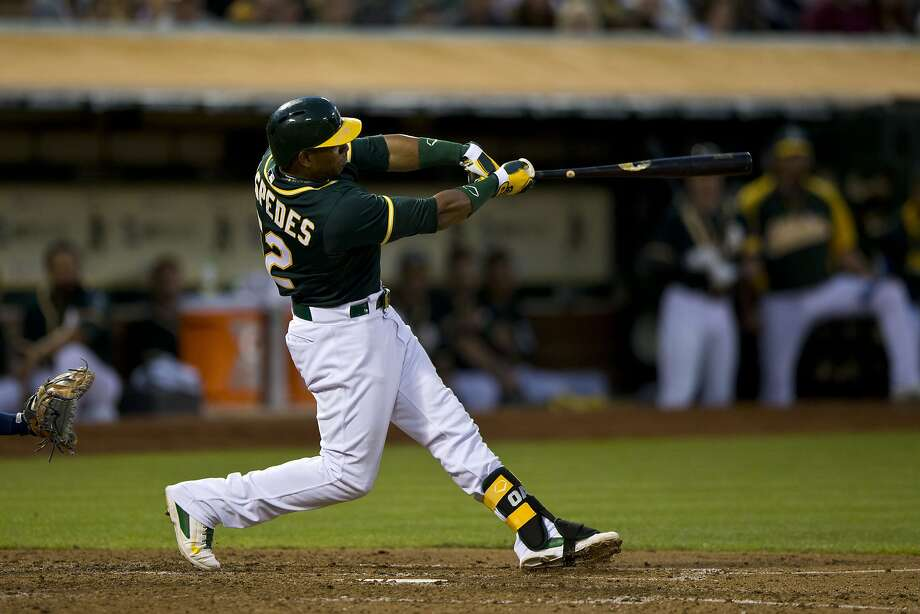 Yoenis Céspedes provided power for the A's, hitting 66 homers in 365 games while he was in Oakland. Photo: Jason O. Watson, Getty Images