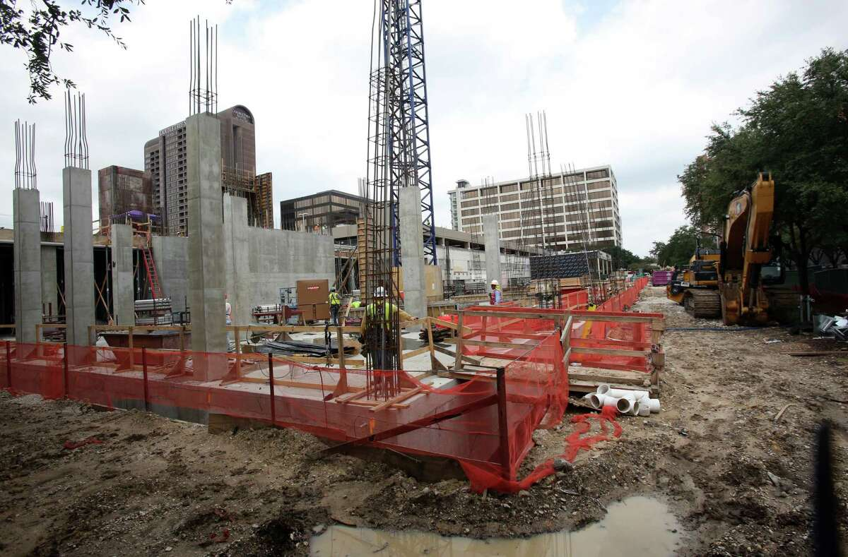 Construction continues Friday at the Galleria Place in Uptown Houston, which will have two Hyatt hotels.