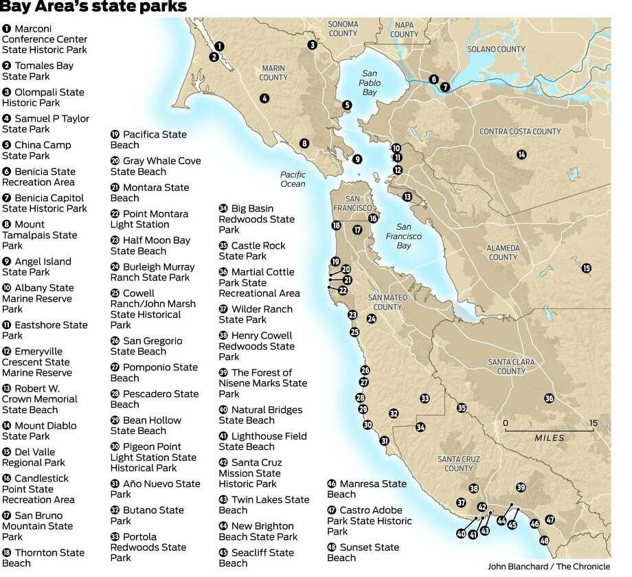 Map Of California State Parks.A Road Map To The Future Of State Parks Sfgate