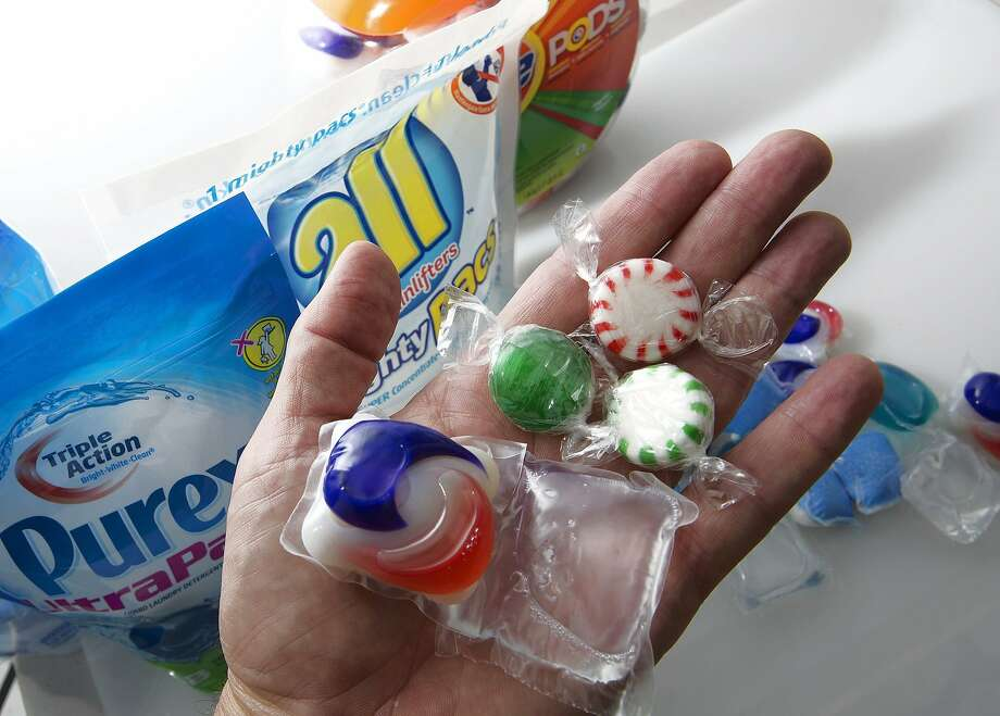 Consumer safety groups have warned that laundry detergent packets could be easily eaten by children who might mistake them for candy. A child died in Kissimmee, Florida, after eating a packet of All detergent. (Tom Burton/Orlando Sentinel/MCT) Photo: Tom Burton, McClatchy-Tribune News Service