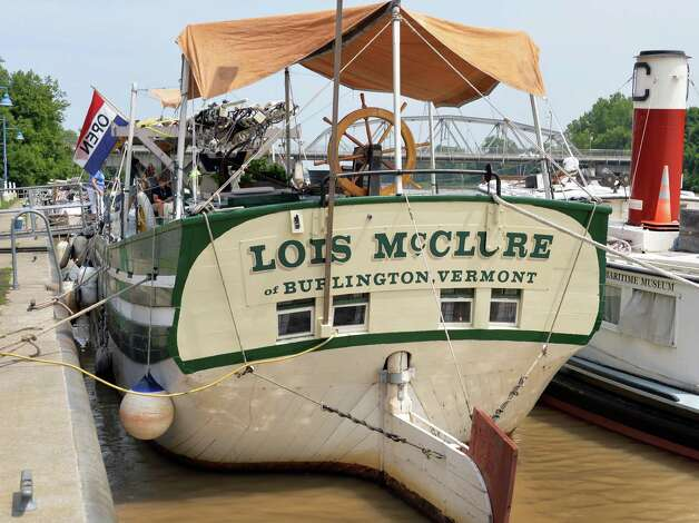 The Lake Champlain Maritime Museum's Schooner Lois McClure during its visit Friday August 1, 2014, in Mechanicville, NY.  (John Carl D'Annibale / Times Union) Photo: John Carl D'Annibale / 00028007A