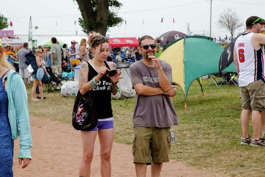 Festival goers donned fun, festive, and bohemian outfits for the 2014 Gathering of the Vibes music festival at Seaside Park in Bridgeport.  On Friday, August 1, fans enjoyed performances from Slightly Stoopid, John Fogerty, and others.  Were you SEEN on Friday? Photo: Catherine Conroy Halstead