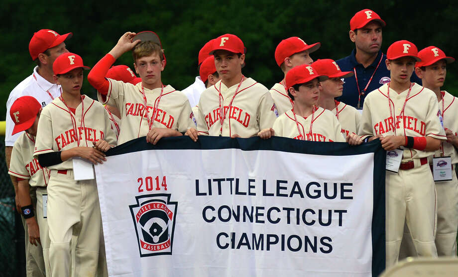 Opening ceremonies held before the start of New England little league tournamnent action between Connecticut and Vermont at Breen Field in Bristol, Conn. on Friday August 1, 2014. Photo: Christian Abraham / Connecticut Post