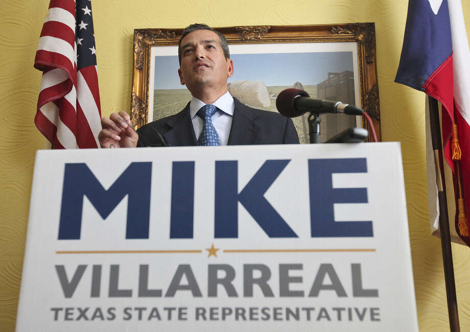 State Rep. Mike Villarreal, who plans to run for mayor of San Antonio in 2015, speaks during a press conference Friday about choosing to leave his state office replacement up to voters. Photo: Edward A. Ornelas / San Antonio Express-News / © 2014 San Antonio Express-News