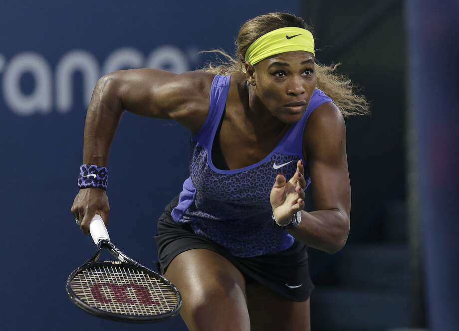 Serena Williams dispatched Ana Ivanovic 2-6, 6-3, 7-5 to reach the semifinals of the Bank of the West Classic. Photo: Jeff Chiu, Associated Press