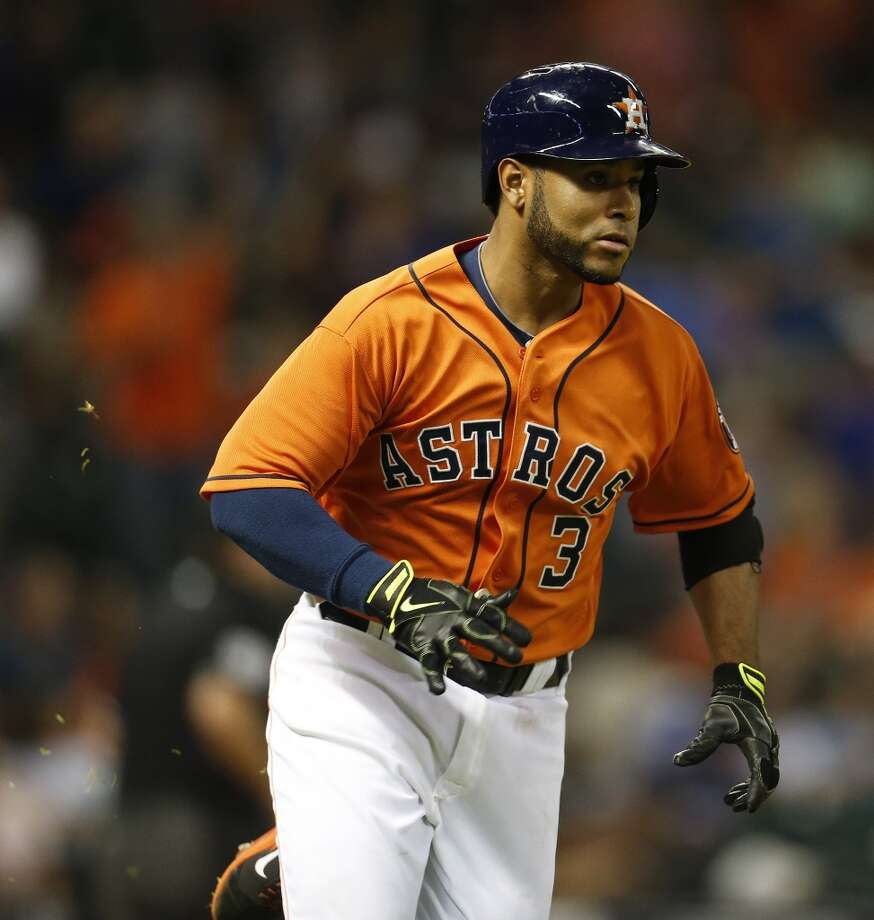 August 1: Astros 3, Blue Jays 1Astros rookie Gregorio Petit delivers his first career home run in a big spot in a win over Toronto.  Record: 45-65. Photo: Karen Warren, Houston Chronicle