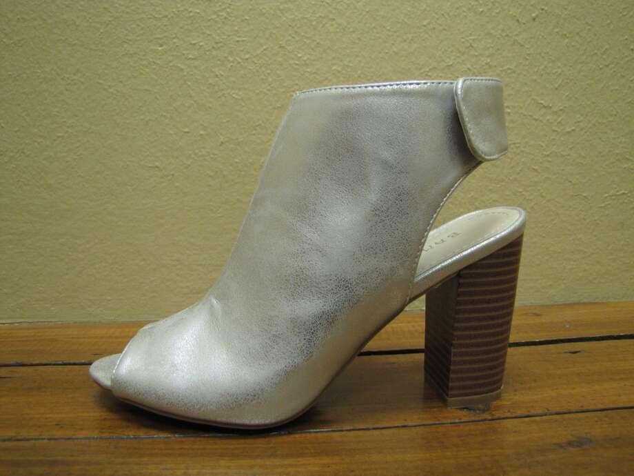 Silver chunky heel, $39.99, YaYa Club, Beaumont Photo: Larena Head/cat5