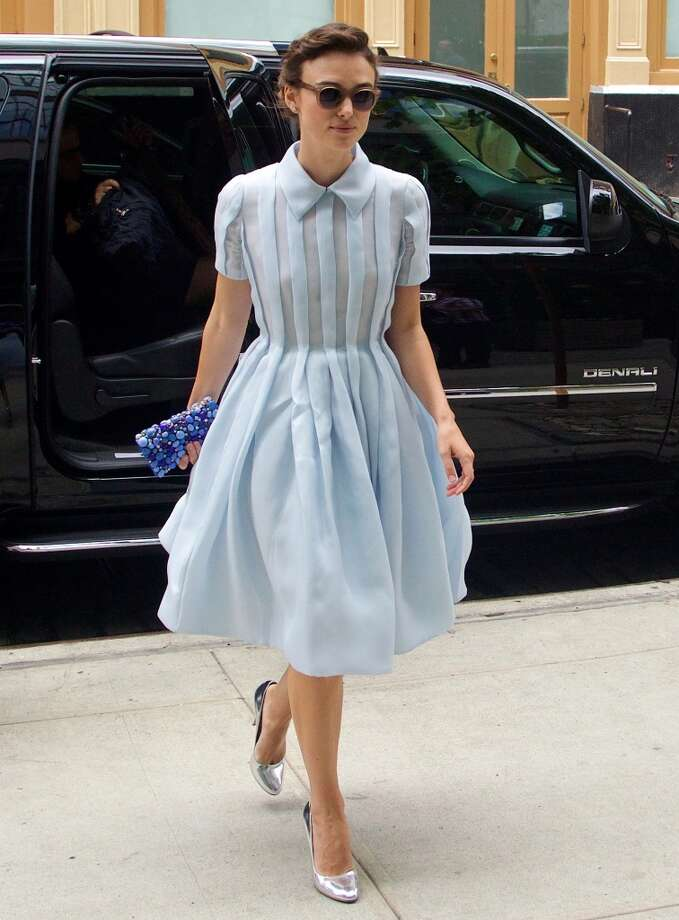 Keira Knightley is seen in Soho on June 26, 2014 in New York City. Photo: Alo Ceballos, GC Images