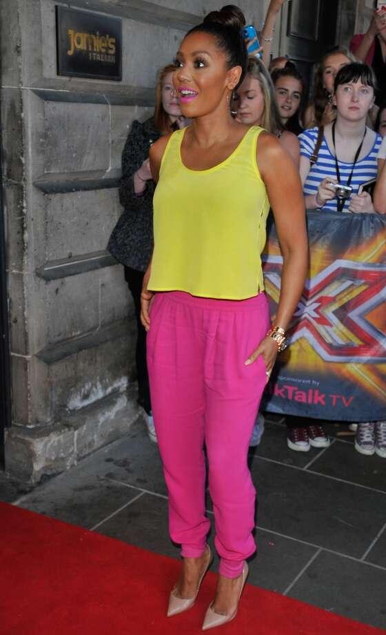 Mel B sighting on July 1, 2014 in Edinburgh, Scotland. Photo: Martin Grimes, GC Images