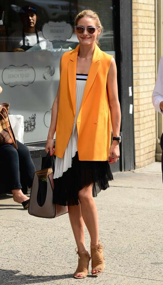 Model Olivia Palermo is seen walking in SoHo on July 18, 2014 in New York City. Photo: Raymond Hall, GC Images
