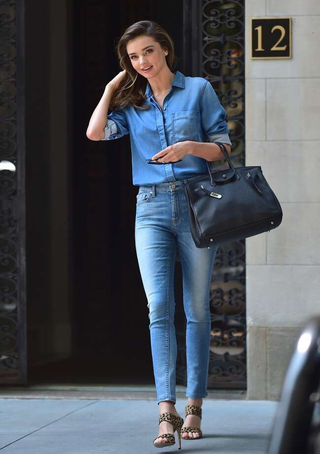 Miranda Kerr is seen in Midtown on July 21, 2014 in New York City. Photo: Alo Ceballos, GC Images