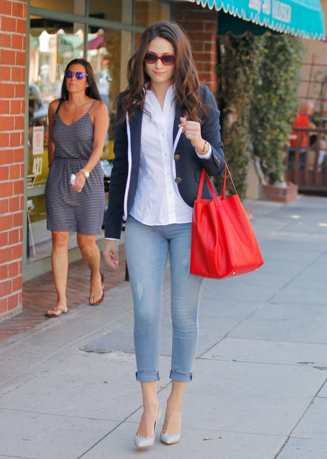 Emmy Rossum is seen in Beverly Hills on July 22, 2014 in Los Angeles, California. Photo: Bauer-Griffin, GC Images