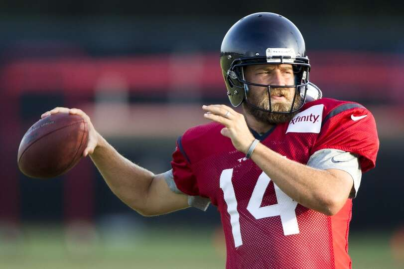 Texans quarterback Ryan Fitzpatrick throws a pass.