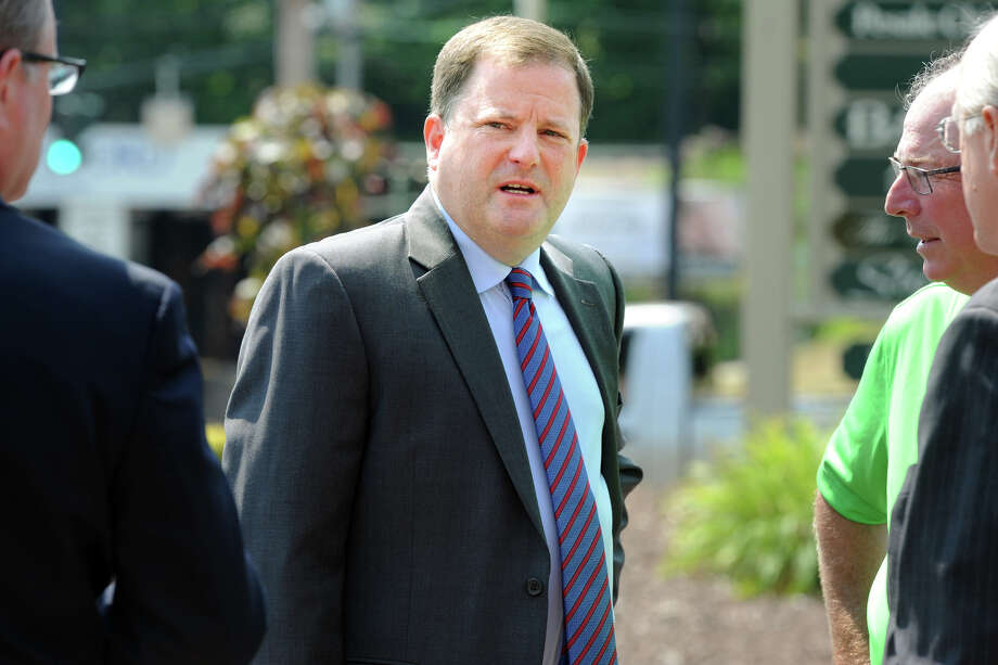 Senate Minority Leader John McKinney arrives at a press conference in Stratford, Conn. July 31, 2014. McKinney is a candidate for the republican nomination for Governor. Photo: Ned Gerard / Connecticut Post