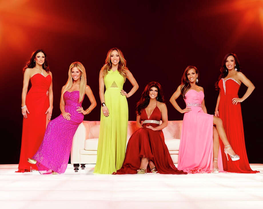 THE REAL HOUSEWIVES OF NEW JERSEY -- Season:6 -- Pictured: (l-r) Amber Marchese, Dina Manzo, Melissa Gorga, Teresa Guidice, Nicole Mauriello, Teresa Aprea -- (Photo by: Alex Martinez/Bravo) Photo: Bravo, Alex Martinez/Brazo / 2014 Bravo Media, LLC