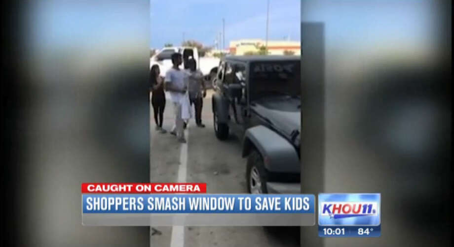 KHOU put out a report based on this cell phone footage from a witness who claimed the Mom had deliberately left her two children in her car on July 14 as temperatures hit the high 90s.  It later turned out he was wrong and the Mom had locked her keys inside by accident as she put her kids in the car.