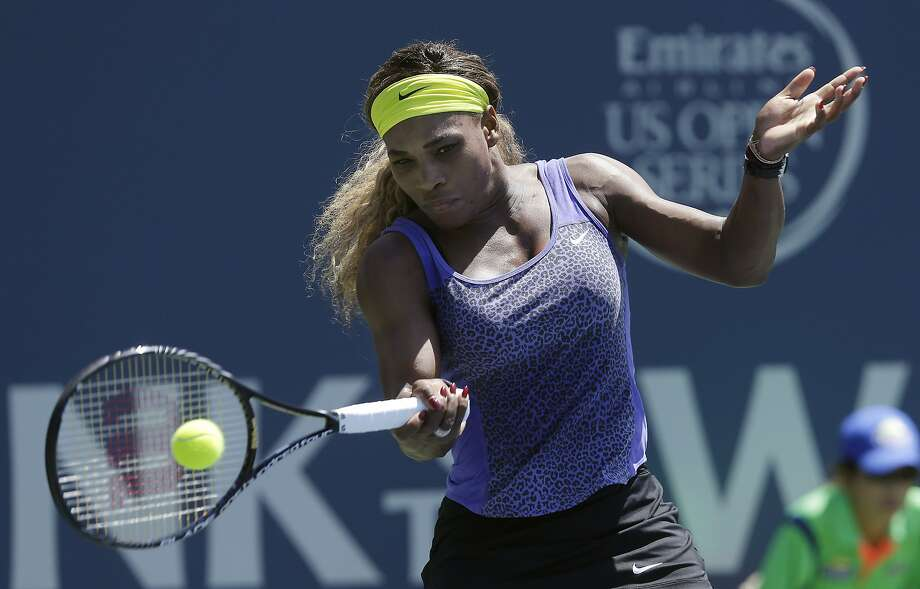 Serena Williams will go for her fourth title of 2014 Sunday after beating Andrea Petkovic in Saturday's semifinals. Photo: Jeff Chiu, Associated Press