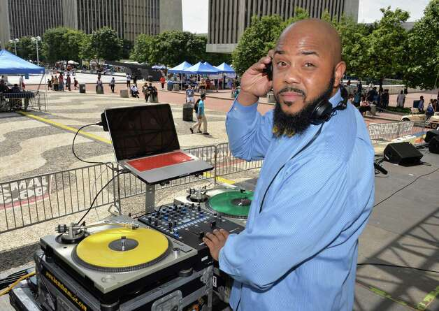 DJ Trumastr performs at the New York StateOs 2014 African American Family Day at the Empire State Plaza Saturday August 2, 2014, in Albany, NY.  (John Carl D'Annibale / Times Union) Photo: John Carl D'Annibale / 00027122A