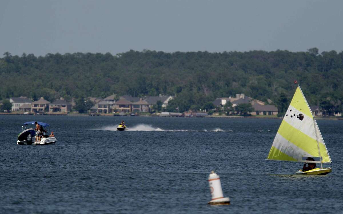 A 2012 photo offers a preview of what's to come during this summer's weekends as even more people come out to enjoy Lake Conroe.