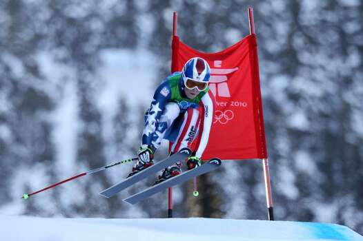 WHISTLER, BC - FEBRUARY 18: Lindsey Vonn of The United States competes during the Alpine Skiing Ladies Super Combined Downhill on day 7 of the Vancouver 2010 Winter Olympics at Whistler Creekside on February 18, 2010 in Whistler, Canada.  (Photo by Clive Rose/Getty Images) *** Local Caption *** Lindsey Vonn Photo: Clive Rose, Getty Images / 2010 Getty Images