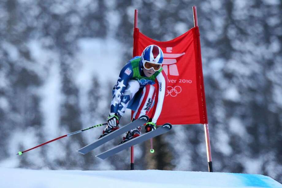 Lindsey Vonn of The United States competes during the Alpine Skiing Ladies Super Combined Downhill on day 7 of the Vancouver 2010 Winter Olympics at Whistler Creekside on February 18, 2010 in Whistler, Canada. Photo: Clive Rose, Getty Images / 2010 Getty Images