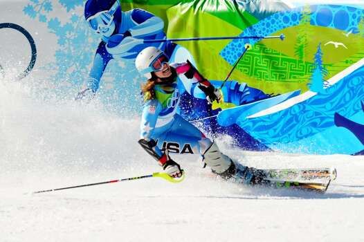WHISTLER, BC - FEBRUARY 18:  Julia Mancuso of The United States competes during the Alpine Skiing Ladies Super Combined Slalom on day 7 of the Vancouver 2010 Winter Olympics at Whistler Creekside on February 18, 2010 in Whistler, Canada.  (Photo by Shaun Botterill/Getty Images) *** Local Caption *** Julia Mancuso Photo: Shaun Botterill, Getty Images / 2010 Getty Images