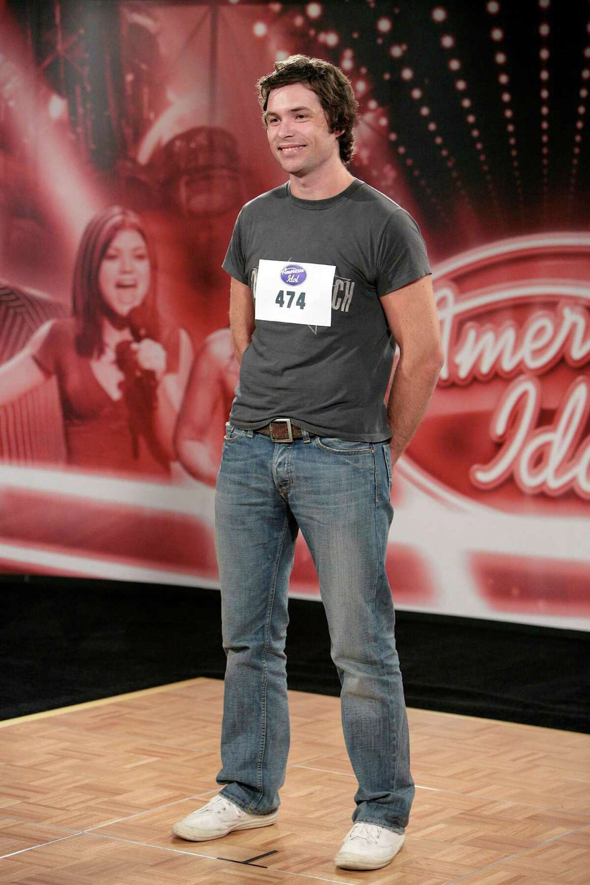 Michael Johns auditions for American Idol season 7 at Qualcomm Stadium on July 30, 2007 in San Diego, California.