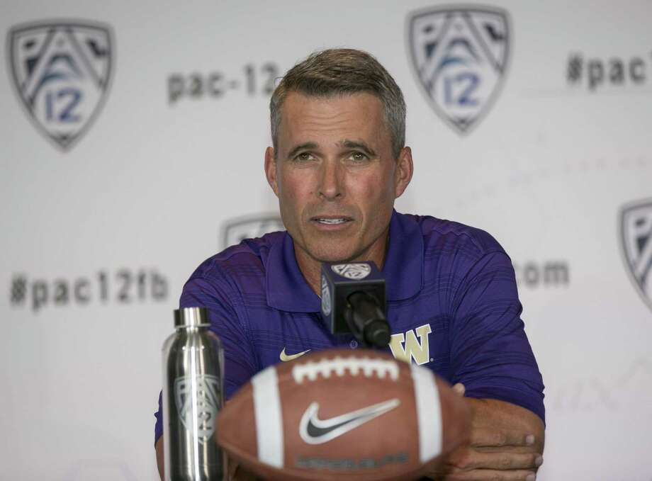 Chris Petersen inherits a team coming off a third-place finish in the Pac-12 North Division for his first season in Washington after a successful stint at Boise State. Photo: Associated Press / AP