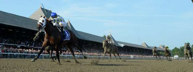 Moreno ridden by jockey Junior Alvarado outdistanced the field to win the 87th running of The Whitney Saturday afternoon Aug. 2, 2014 at the Saratoga Race Course in Saratoga Springs, N.Y.  (Skip Dickstein/Times Union) ORG XMIT: NYALT Photo: SKIP DICKSTEIN