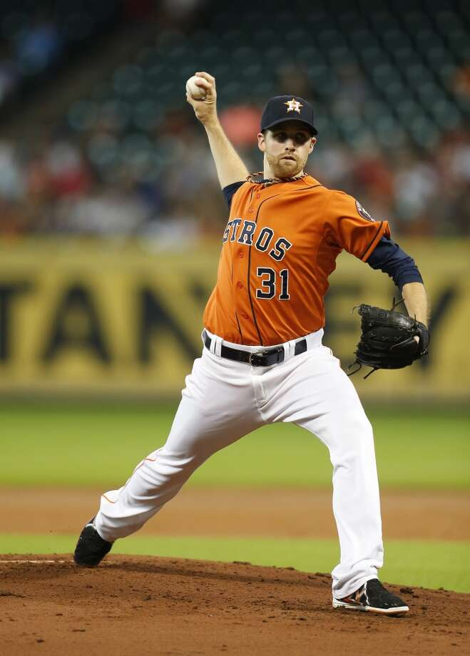 Collin McHugh pitches during the first inning. Photo: Karen Warren, Houston Chronicle