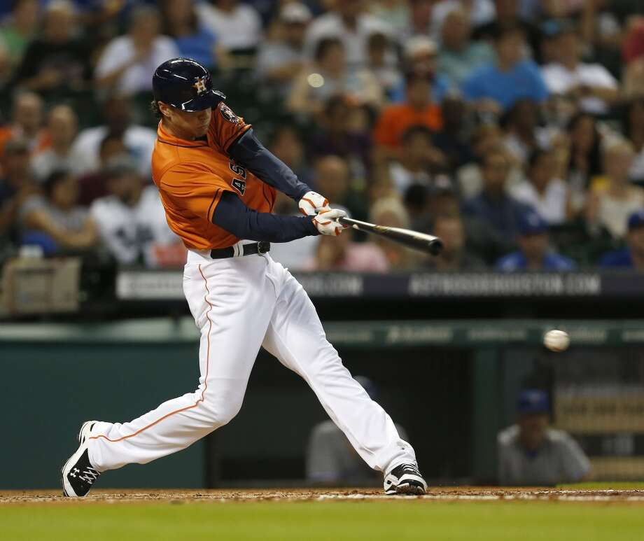 Jake Marisnick grounds out in his first at-bat during the third inning. Photo: Karen Warren, Houston Chronicle