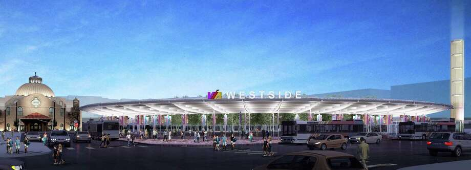 A rendering of the VIA Westside Multimodal Transit Center is seen in an image taken from documents submitted to the Historic Design Review Commission at the end of last year. Photo: COURTESY / COURTESY HDRC
