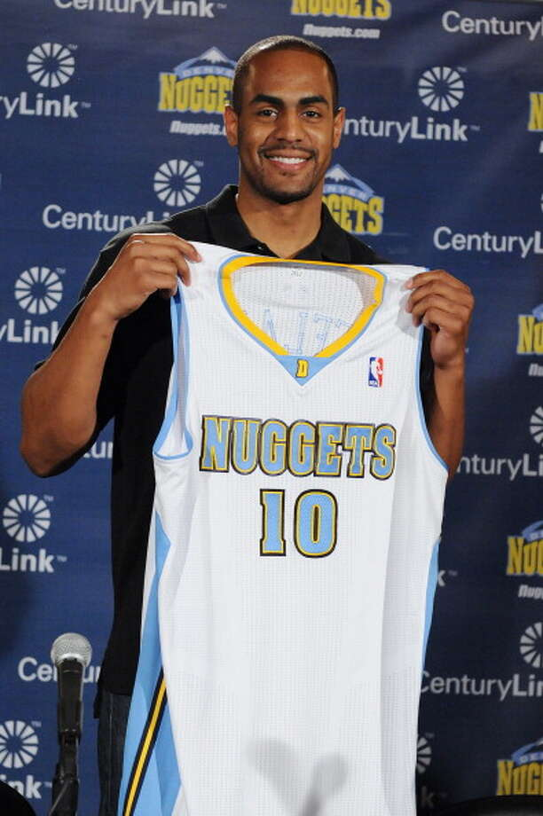 Denver NuggetsAdditions:Arron Affalo (Orlando), Erick Green (rookie).Subtractions:Aaron Brooks (Chicago), Evan Fournier (Orlando), Anthony Randolph, Jan Vesely.Net result:The rebuilding continues at a slow pace in Denver but while there isn't necessarily a super star on the team, the Nuggets are deep and that's exactly what coach Brian Shaw wants to work with. Photo: Garrett Ellwood, NBAE/Getty Images / 2014 NBAE